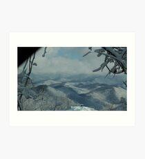 Snow falls on The Smokys Art Print