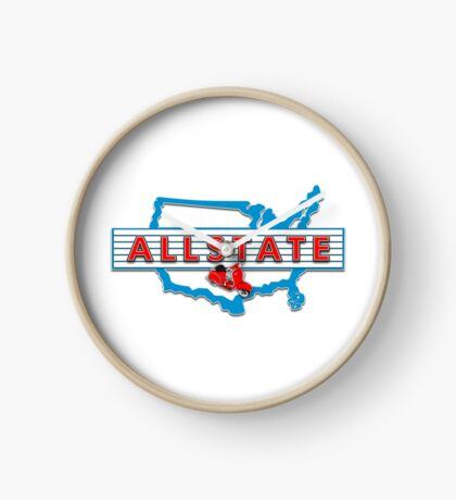 Scooter T-shirts Art: Allstate Logo Design Clock