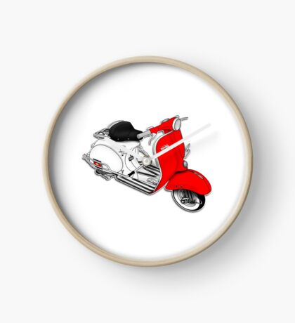 Scooter T-shirts Art: 1960 Allstate Scooter Design Clock