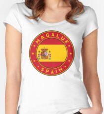 Magaluf, Magaluf sticker, Magaluf t-shirt, Spain, Cities of Spain Women's Fitted Scoop T-Shirt