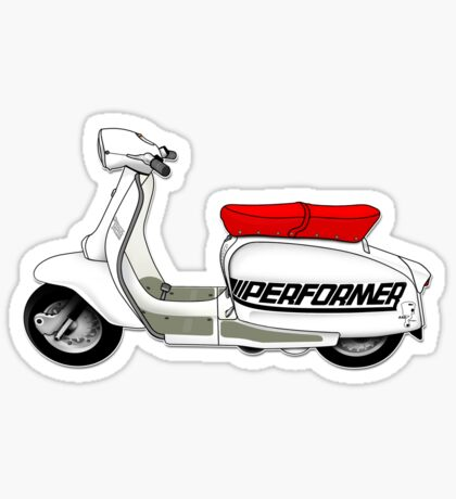 Scooter T-shirts Art: Jet200 Performer Scooter Design Sticker