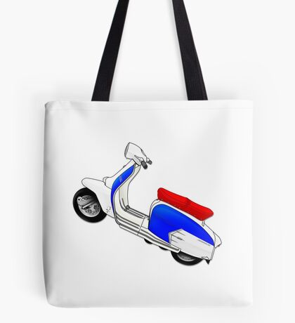 Scooter T-shirts Art: SX200 Dealership Blue Scooter Design Tote Bag