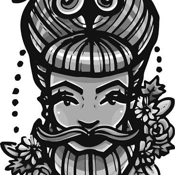 Bearded Lady  by brogantickner