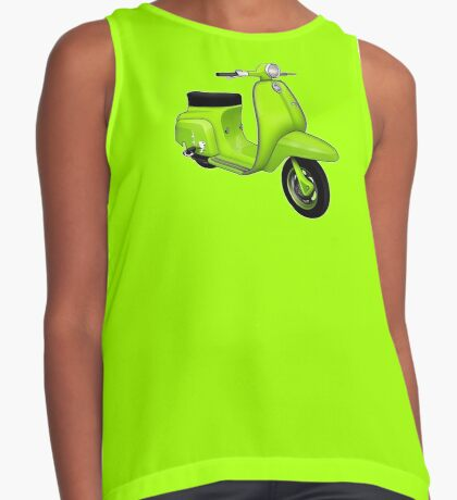 Scooter T-shirts Art: J50 Deluxe Scooter Design Contrast Tank
