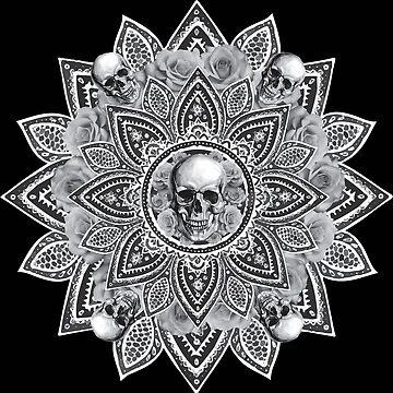 Skull Mandala by brogantickner
