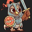 Knight Owl Animal Pun Shirt by TechraNova