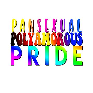 Pansexual Polyamorous Pride Design for Pride Month by snorkle