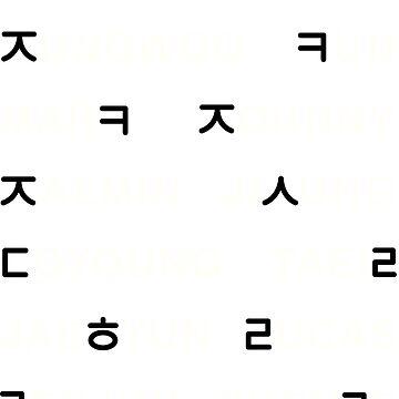 NCT - Nombres en hangul (VERDE) 18 MIEMBROS de Duckiechan