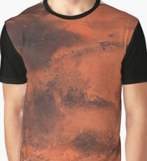 Map of Planet Mars -8K Graphic T-Shirt
