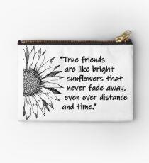 Sonnenblume-Zitat Täschchen
