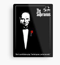 The Sopranos (The Godfather mashup) Metal Print