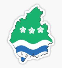 Cumbria Flag Outline Sticker