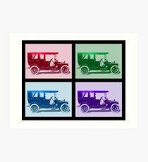 1909 Packard Limousine Quad Art Print