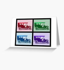 1909 Packard Limousine Quad Greeting Card