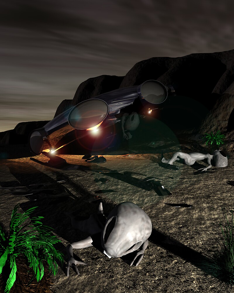 Roswell Like Crash 3 at Night by mdkgraphics