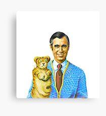 Mister Rogers and Daniel Portrait Canvas Print