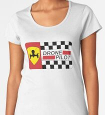 Drone Pilot Racing Flag Women's Premium T-Shirt