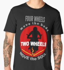 Motorcycle Rider image and quote Men's Premium T-Shirt