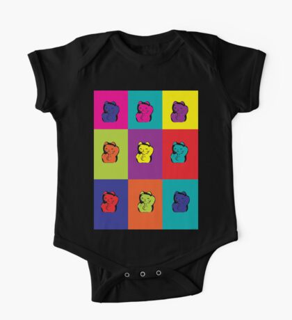 Maneki Neko Kitty Cat Rainbow Pop Art Kids Clothes