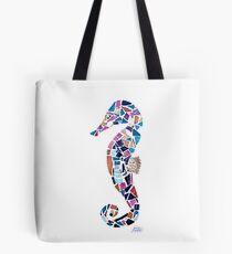 Seahorse Mosaic Cutout Tote Bag