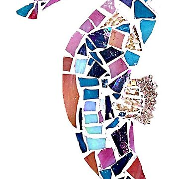 Seahorse Mosaic Cutout by janmarvin