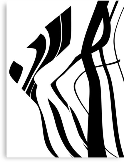 Organic No.4 Black & White Abstract by Menega  Sabidussi