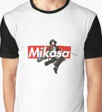 Supreme Box Logo Attack on Titan Shingeki no Kyojin Mikasa Ackermann Graphic T-Shirt