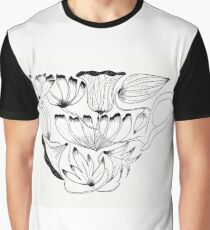 Flowers Cup Graphic T-Shirt