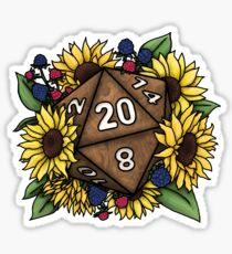 Pegatina Sunflower D20 Tabletop RPG Gaming Dice