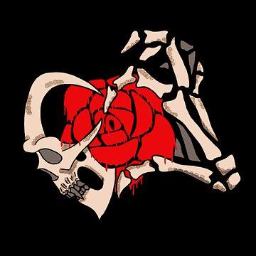 skull heart rose by mysteriosupafan