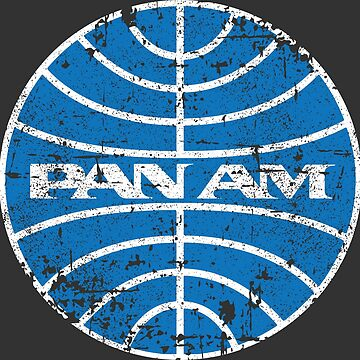 Pan Am Airlines Airways 70s 80s Vintage Distressed Logo by neonfuture
