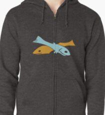 Fish Zipped Hoodie