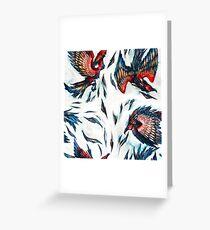 Majestic Flying Fantasy Phoenix Bird Pattern  Greeting Card