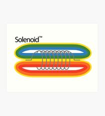 Solenoide Polaroid Lámina artística
