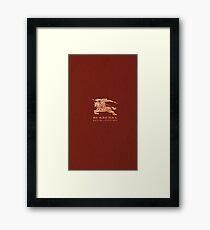 burbery brown Framed Print