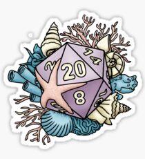 Meerjungfrau D20 Tabletop RPG Gaming Dice Sticker