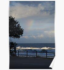 Rainbow silhouette Poster