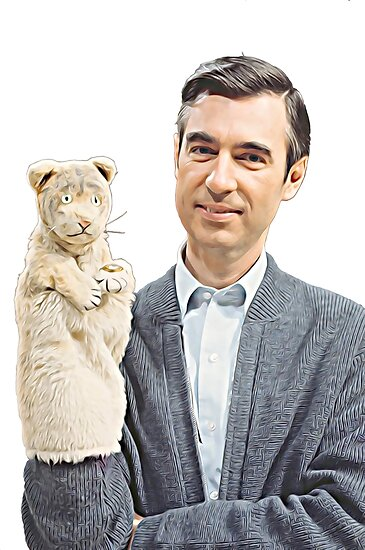 Herr Rogers und Daniel Striped Tiger Painting von fixedgearnyc