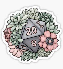 Pegatina Suculent D20 Tabletop RPG Gaming Dice