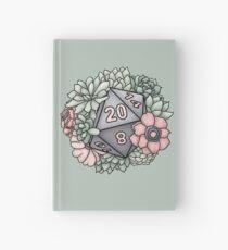 Succulent D20 Tabletop RPG Gaming Dice Hardcover Journal