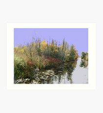Canal Road River....(Water reflection VI)... Art Print