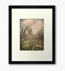 In the Mountains Framed Print