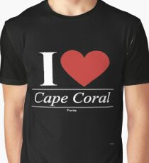 I Love  Cape Coral - Gift for Proud Floridian From  Cape Coral Florida FL  Graphic T-Shirt