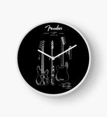 Fender Guitar 1953 Patent Blueprint Art Clock