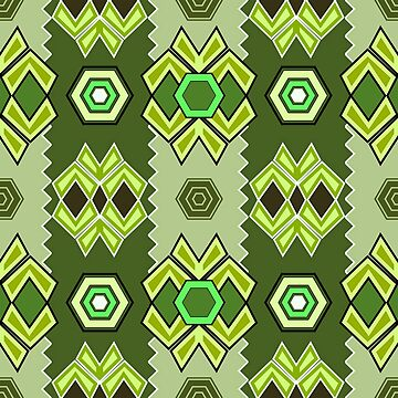 Abstract Forest Green Artistic Pattern by kbasandra