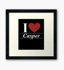 I Love  Casper - Gift for Proud Wyomingite From  Casper Wyoming WY  Framed Print