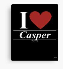 I Love  Casper - Gift for Proud Wyomingite From  Casper Wyoming WY  Canvas Print