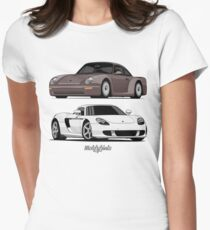 Supercar Evolution (brown & white) Women's Fitted T-Shirt