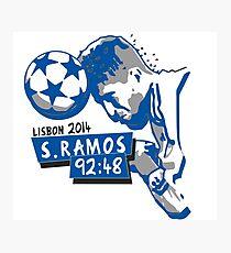 Sergio Ramos - Minuto 92:48 Photographic Print