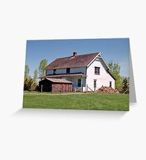 Pylypow House - Ukrainian Cultural Heritage Village near Edmonton, Alberta, Canada Greeting Card